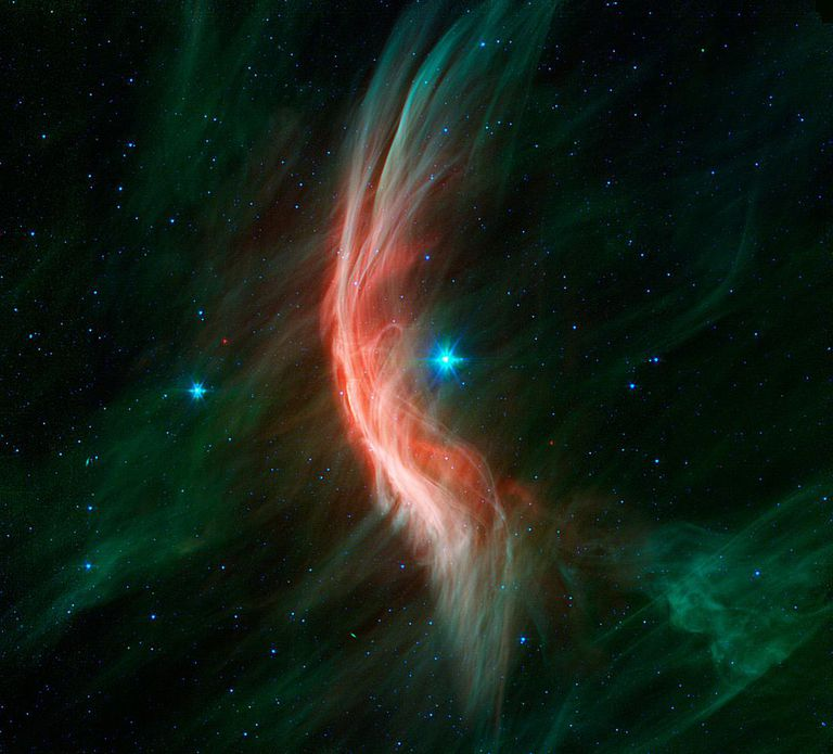 Zeta Ophiuchi is plowing through space.