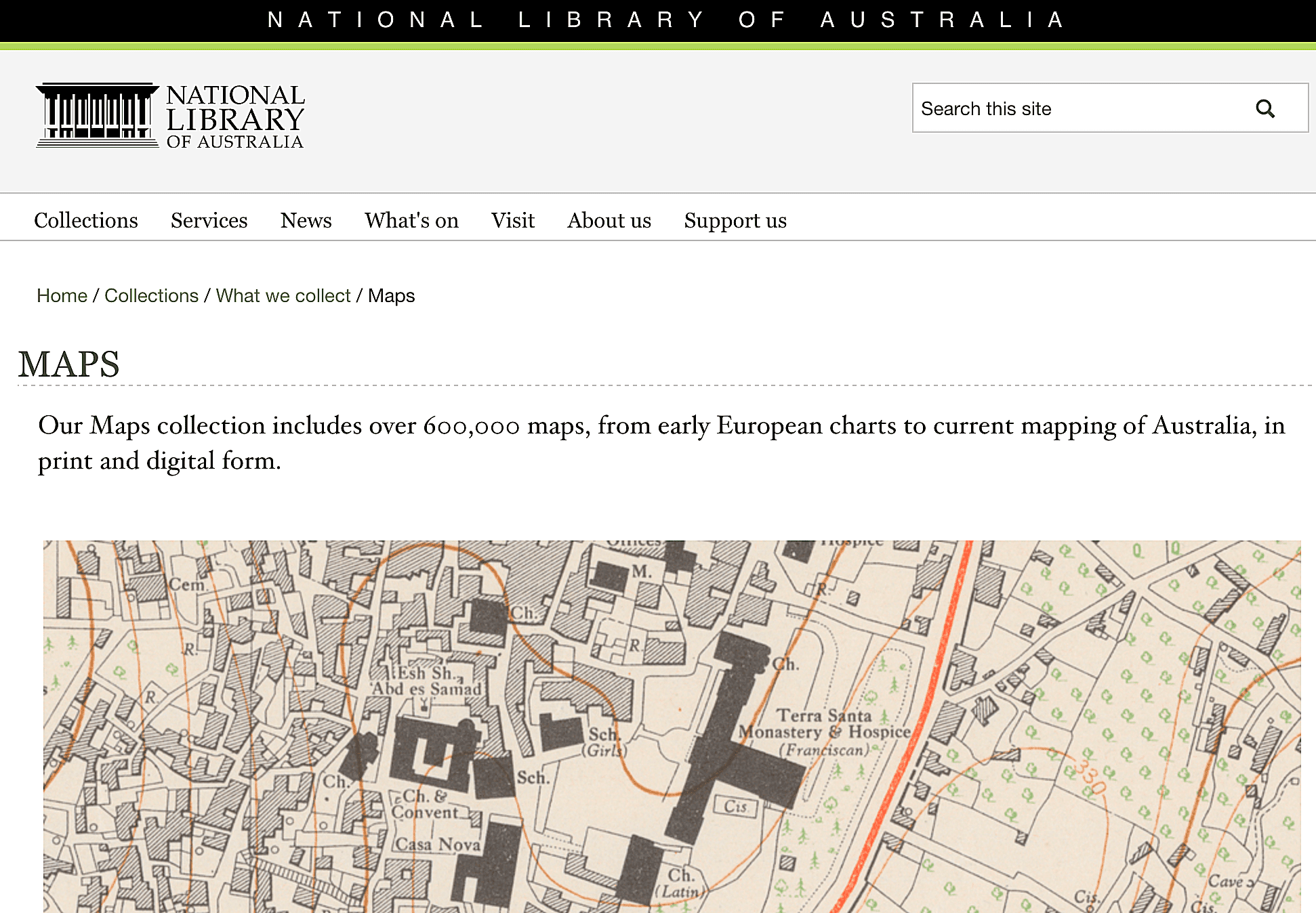 Explore selected maps from the 600,000+ map collections of the National Library of Australia.