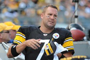 Ben Roethlisberger in his Steelers uniform