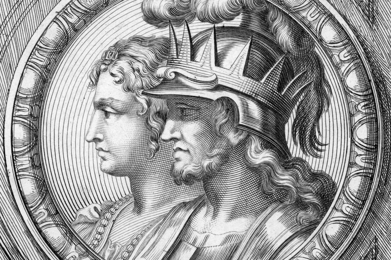 Urraca and Alfonso VI - Engraving