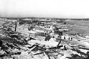 Halifax, Nova Scotia, Canada-General view of the remains of the explosion at Halifax.