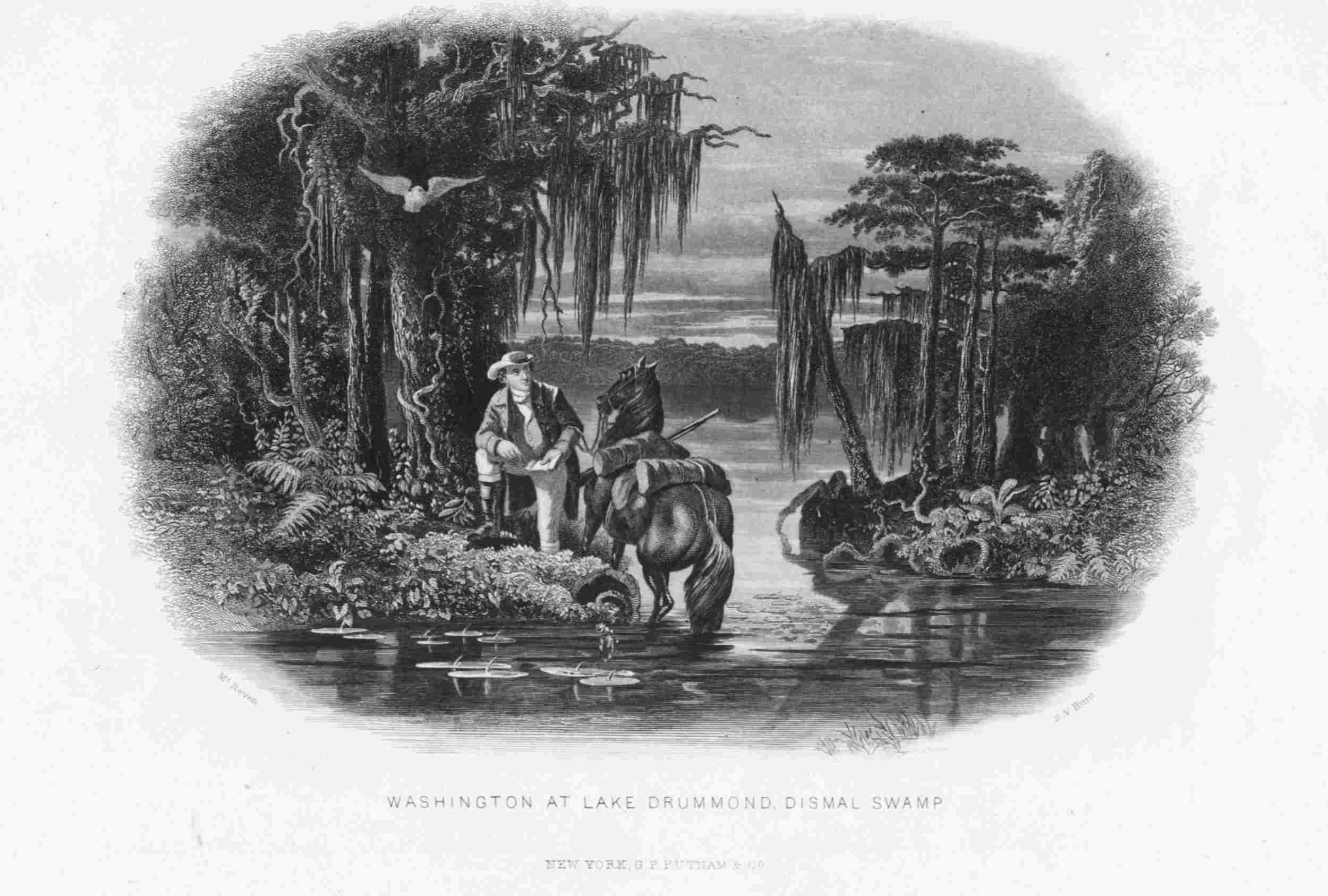 Engraving of George Washington's 1763 Survey of the Great Dismal Swamp