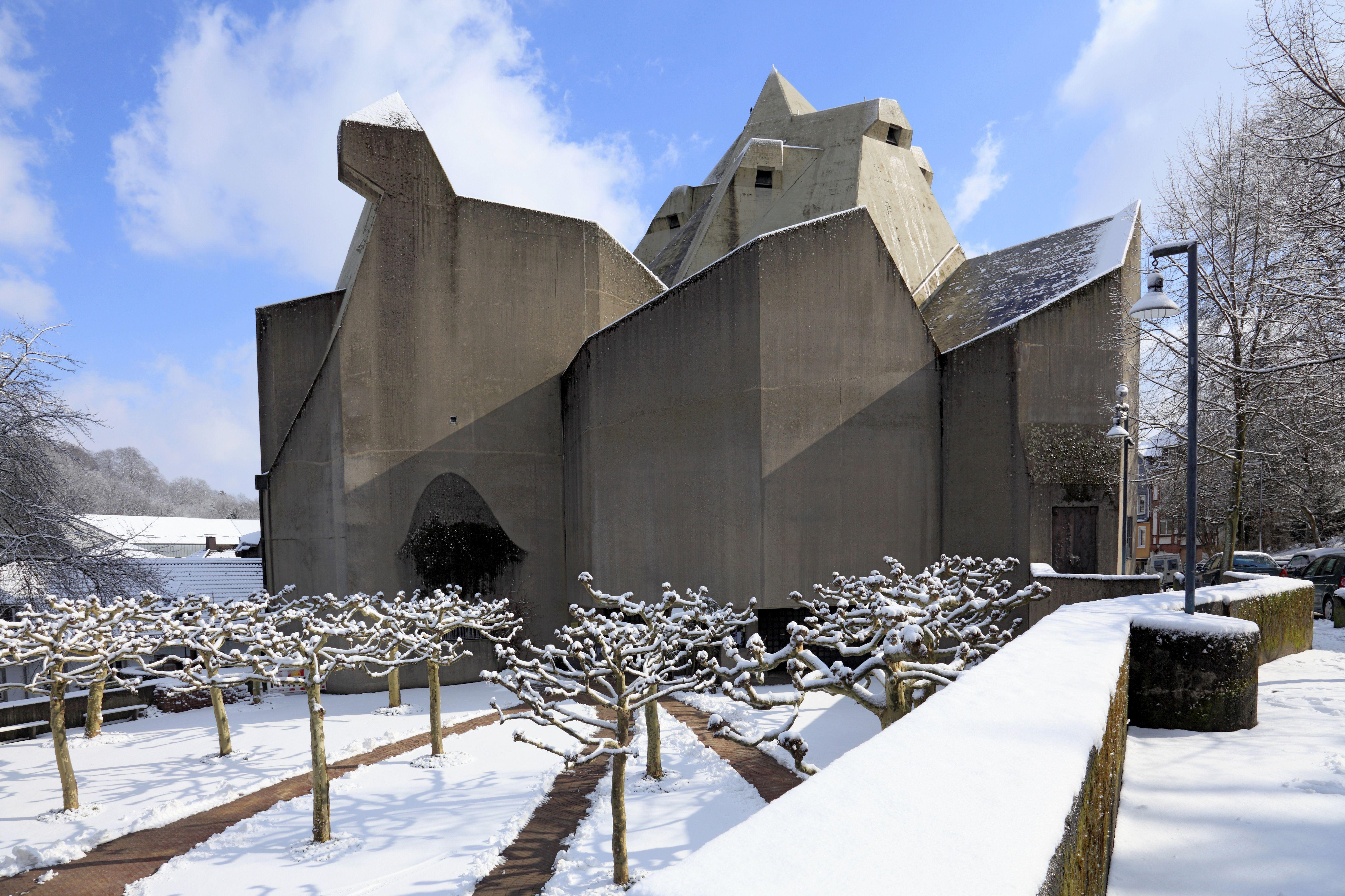 Pilgrimage Cathedral by Pritzker Winner Gottfried Böhm, 1968, Neviges, Germany