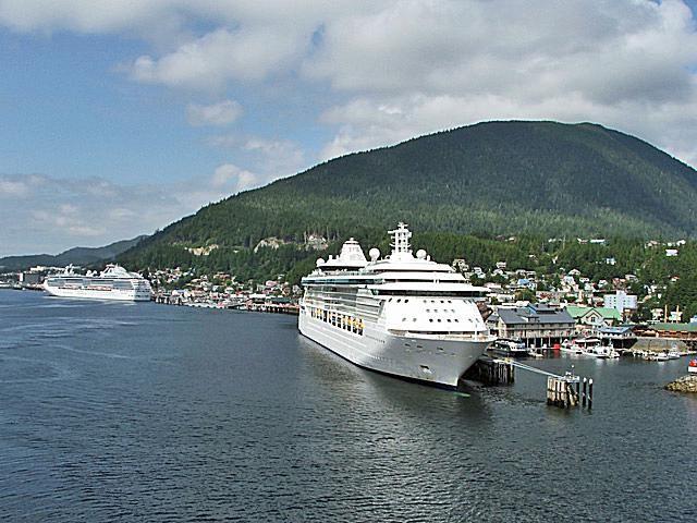 Cruise ships docked in Ketchikan, Alaska