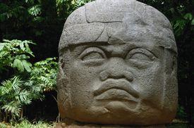 Olmec Head at La Venta, Tabasco, Mexico