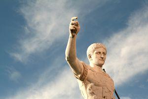 caesar statue against sky