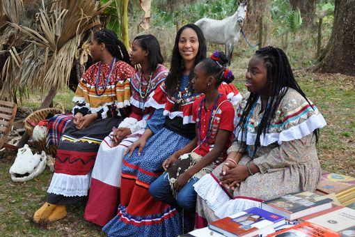 Black Seminole Reenactors at Dade Battlefield State Historic Park
