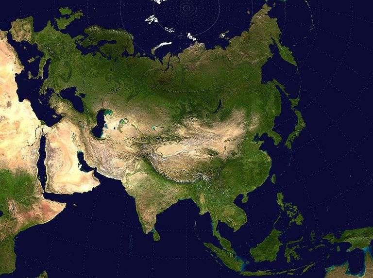 The Eurasian landmass, which is pretty clearly just one continent.