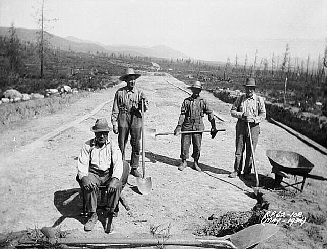 Road Construction Unemployment Relief Project
