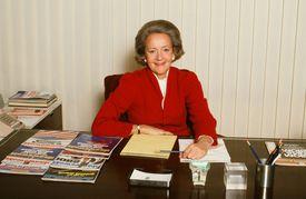 Portrait of publisher Katharine Graham, 1980