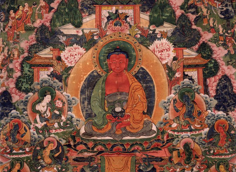 Amitabha Buddha in the Pure Land of Suvakti