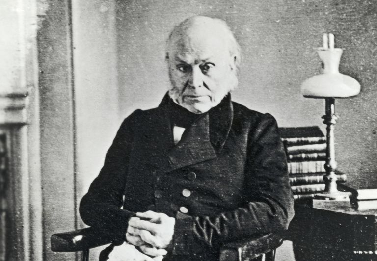 Daguerreotype image of John Quincy Adams