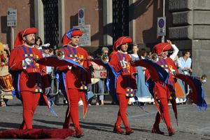 Corpus Domini Day, an annual event in Orvieto, Italy.