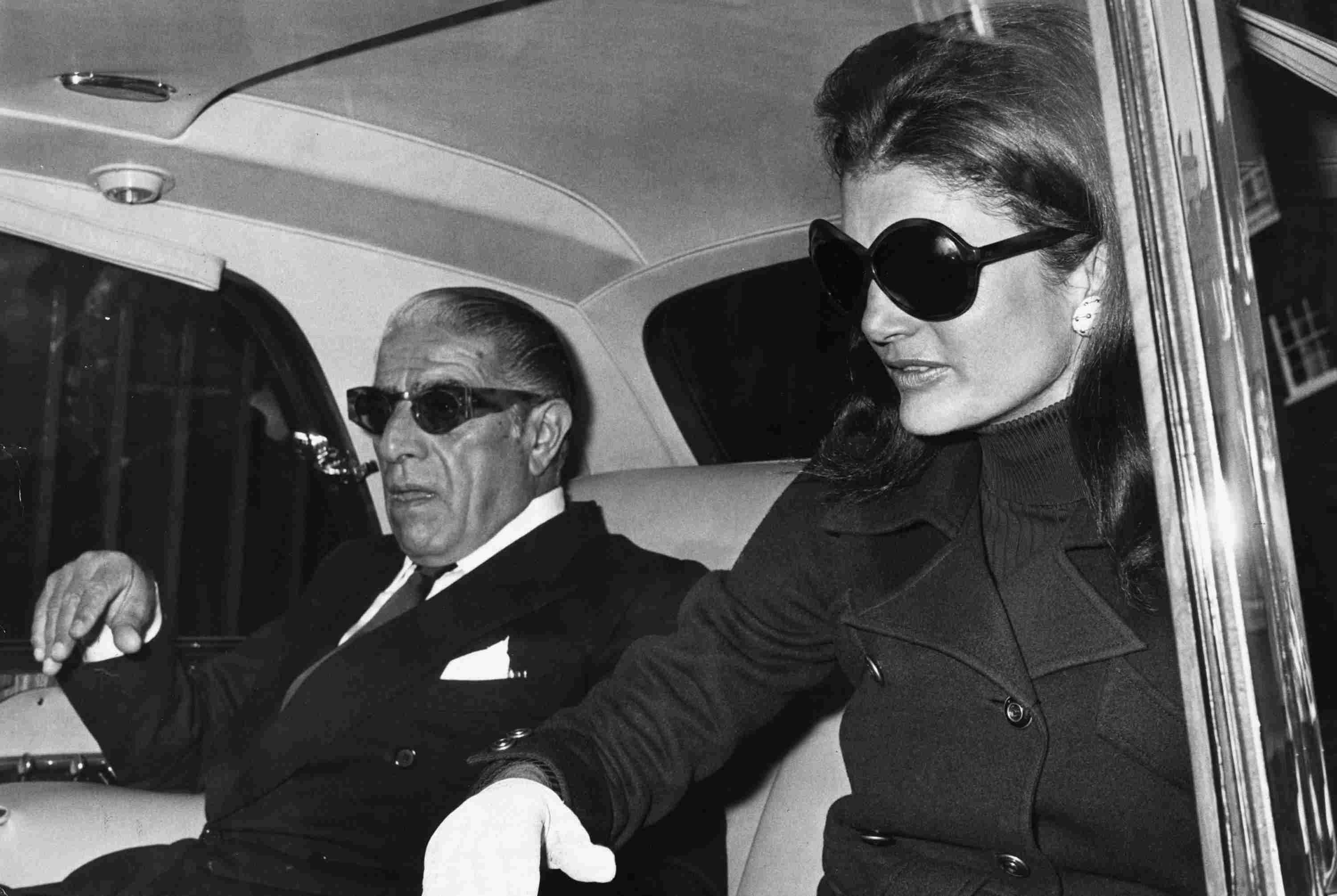 Photograph of Aristotle Onassis and Jacqueline Kennedy Onassis