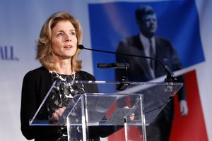 Caroline Kennedy standing at podium.
