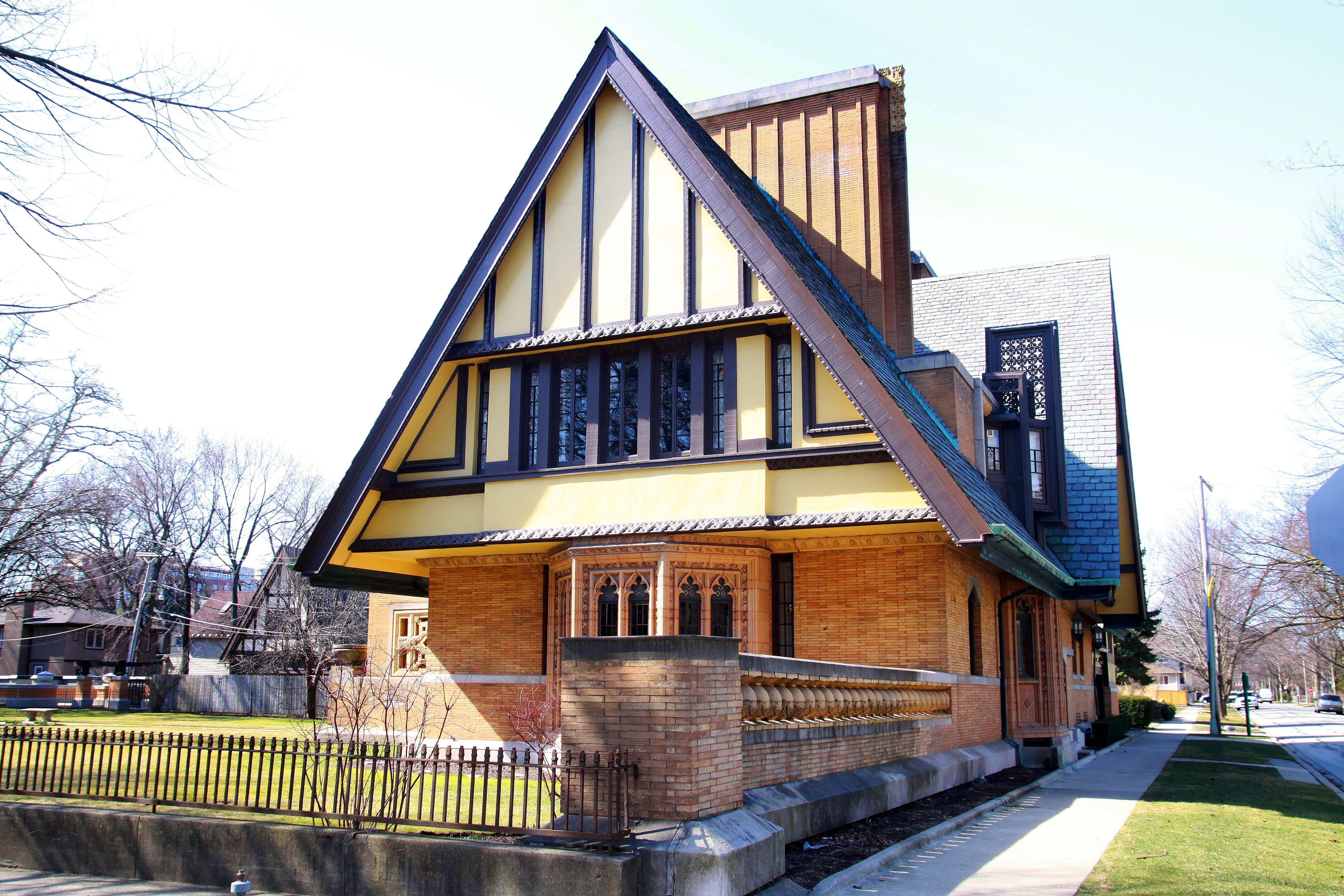 The Nathan G. Moore House, built in 1895, designed and remodeled by Frank Lloyd Wright, Oak Park, Illinois