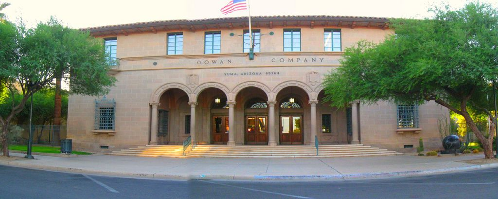 Photo of the old post office in Yuma, Texas in August 2009 is company headquarters for Gowan Co.