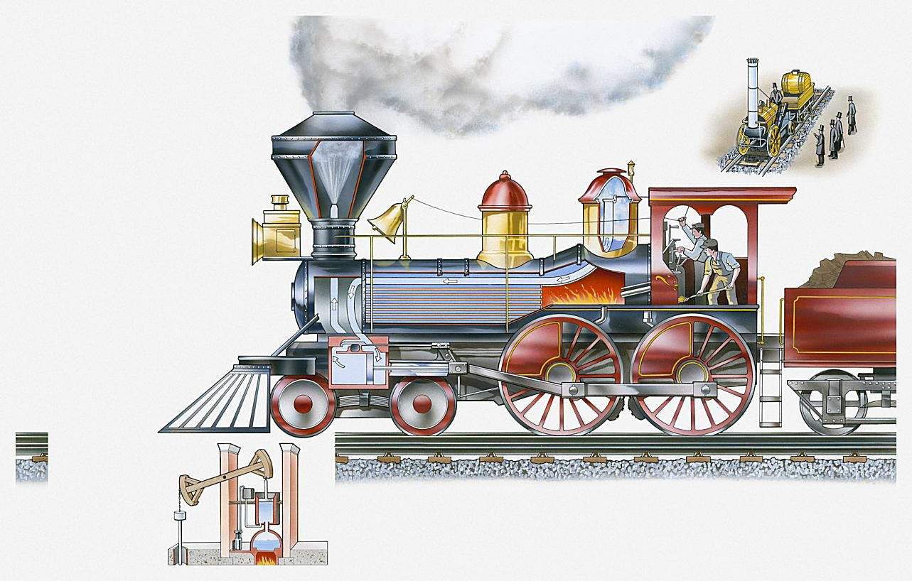How Do Steam Engines Work Engine Piston Diagram