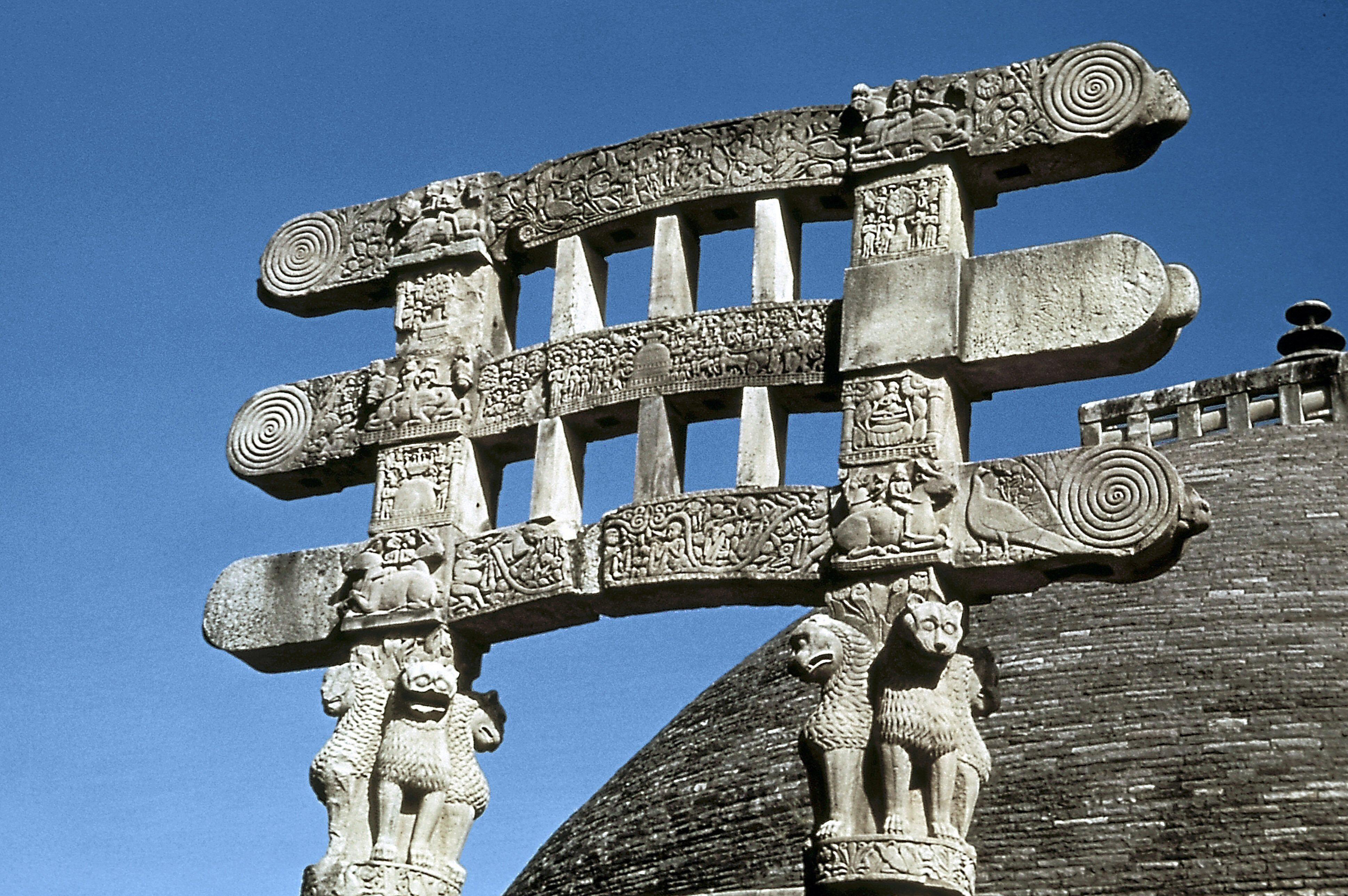 The Great Stupa, Sanchi, India, 75-50 BC