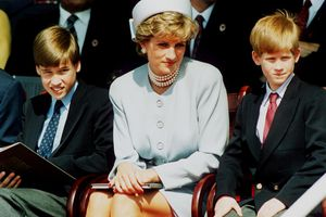 Diana with sons Prince William and Prince Harry