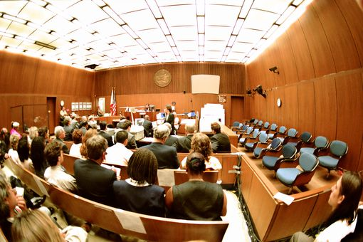 View of courtroom during OJ Simpson trial