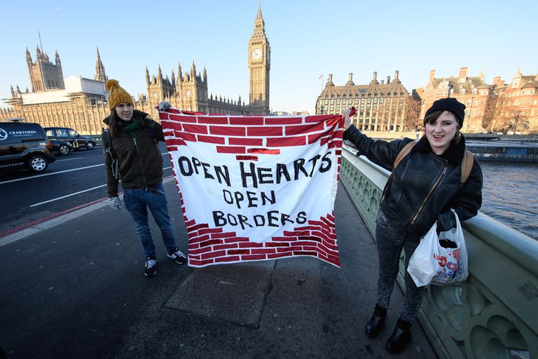 Bridge Not Walls Protests Take Place Across The UK