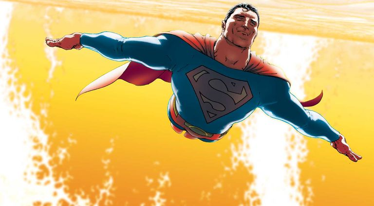 Comic panel of All-Star Superman
