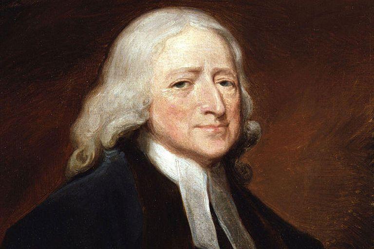 """John Wesley,"" by English artist George Romney."