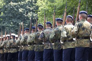 Soldiers holding rifles