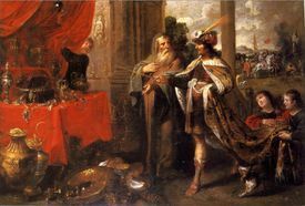 Croesus showing his treasures