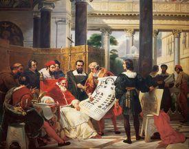 Pope Julius II ordering art