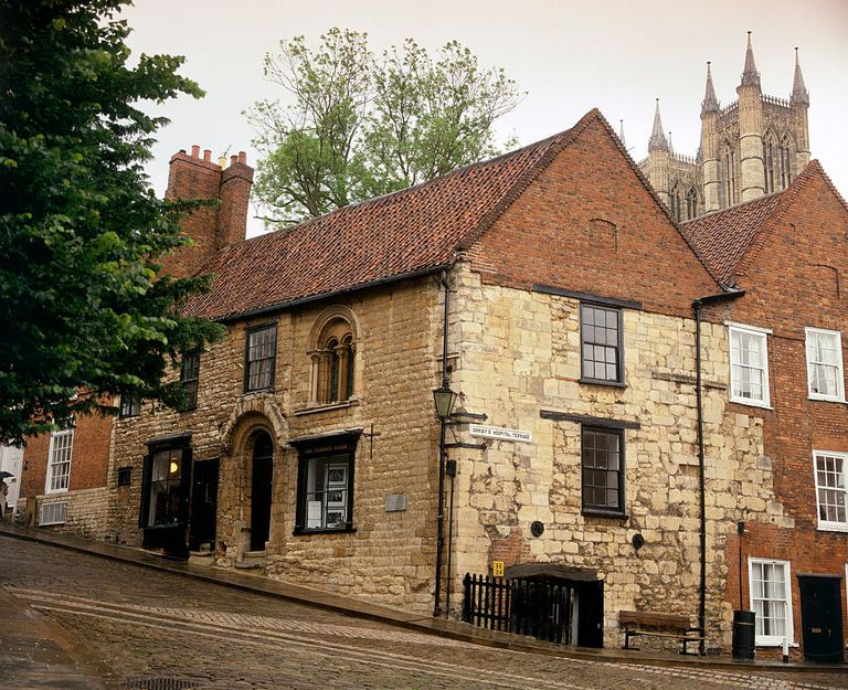House built in the late-12th century in Lincoln, England