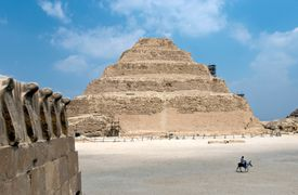 Pyramid of Djoser, a step pyramid considered the first pyramid built in Egypt