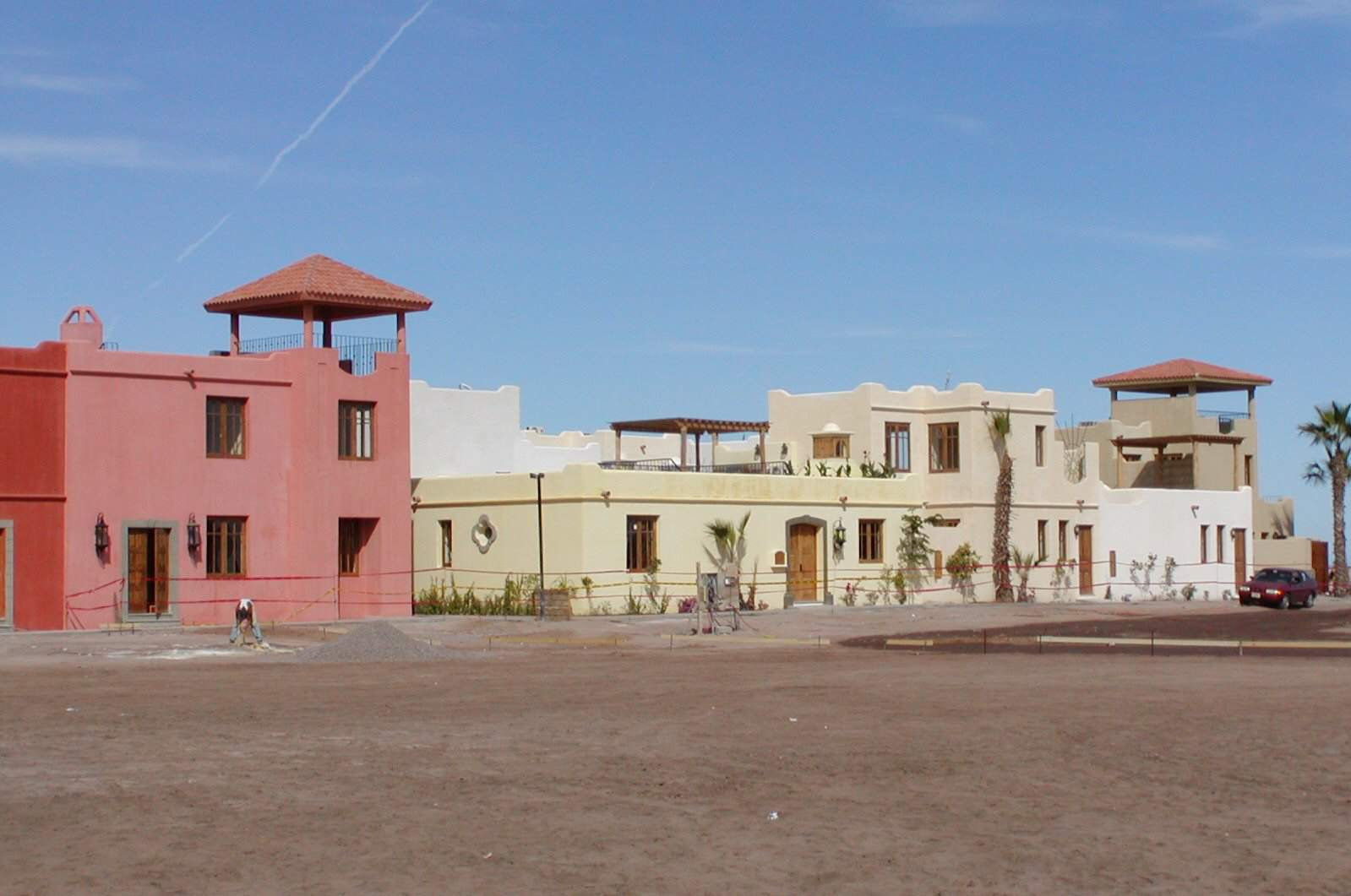 street photo of colorful earthen buildings in a Spanish style