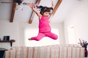 girl jumping for Spanish lesson on haber