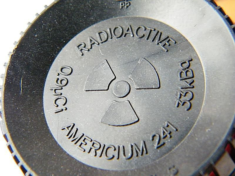 Many smoke detectors contain a small sealed americium-241 radioactive source.
