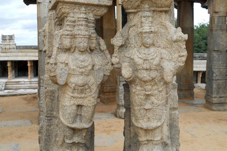 Lord Brahma and Lord Vishnu sculpture at Virabhadra temple.