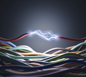 Electrical conductivity between wires