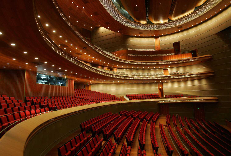 Inside the elegant opera house in the National Grand Theater on September 18, 2007