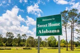 Welcome to Sweet Home Alabama Road Sign in Alabama USA