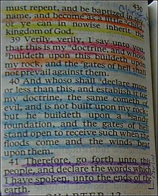 LDS Scripture Study Color Coding