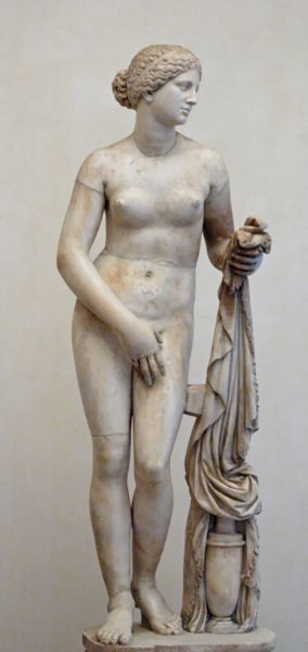 Copy of Praxiteles' Aphrodite of Knidos.