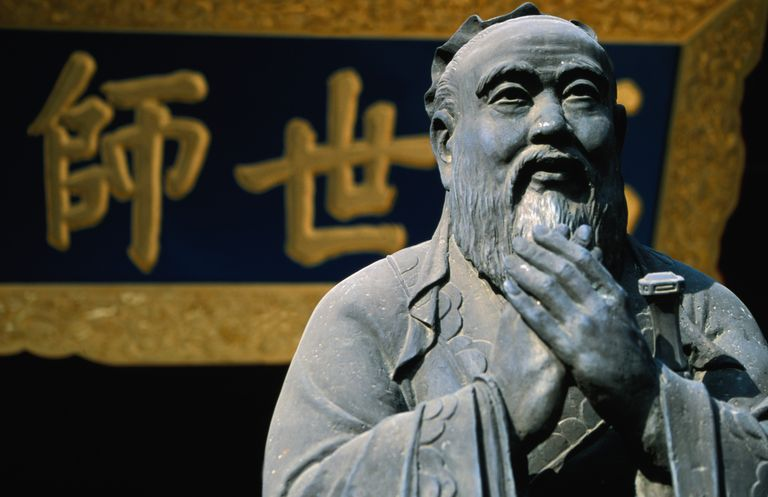 Statue of Confucius in Wenmiao (Confucius Temple), Nanshi district.