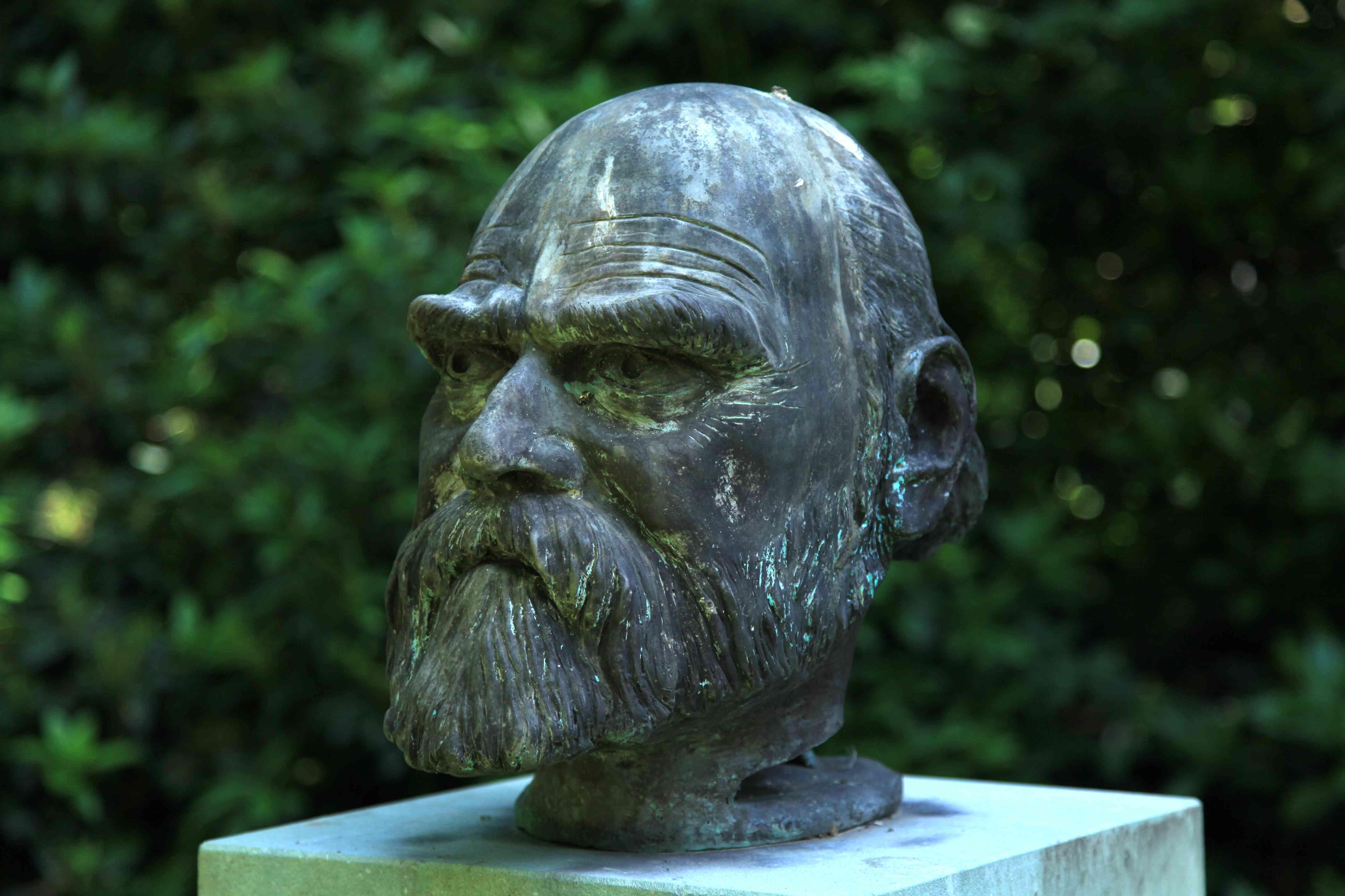 Bust of Ferdinand Tönnies in Schlosspark in Husum