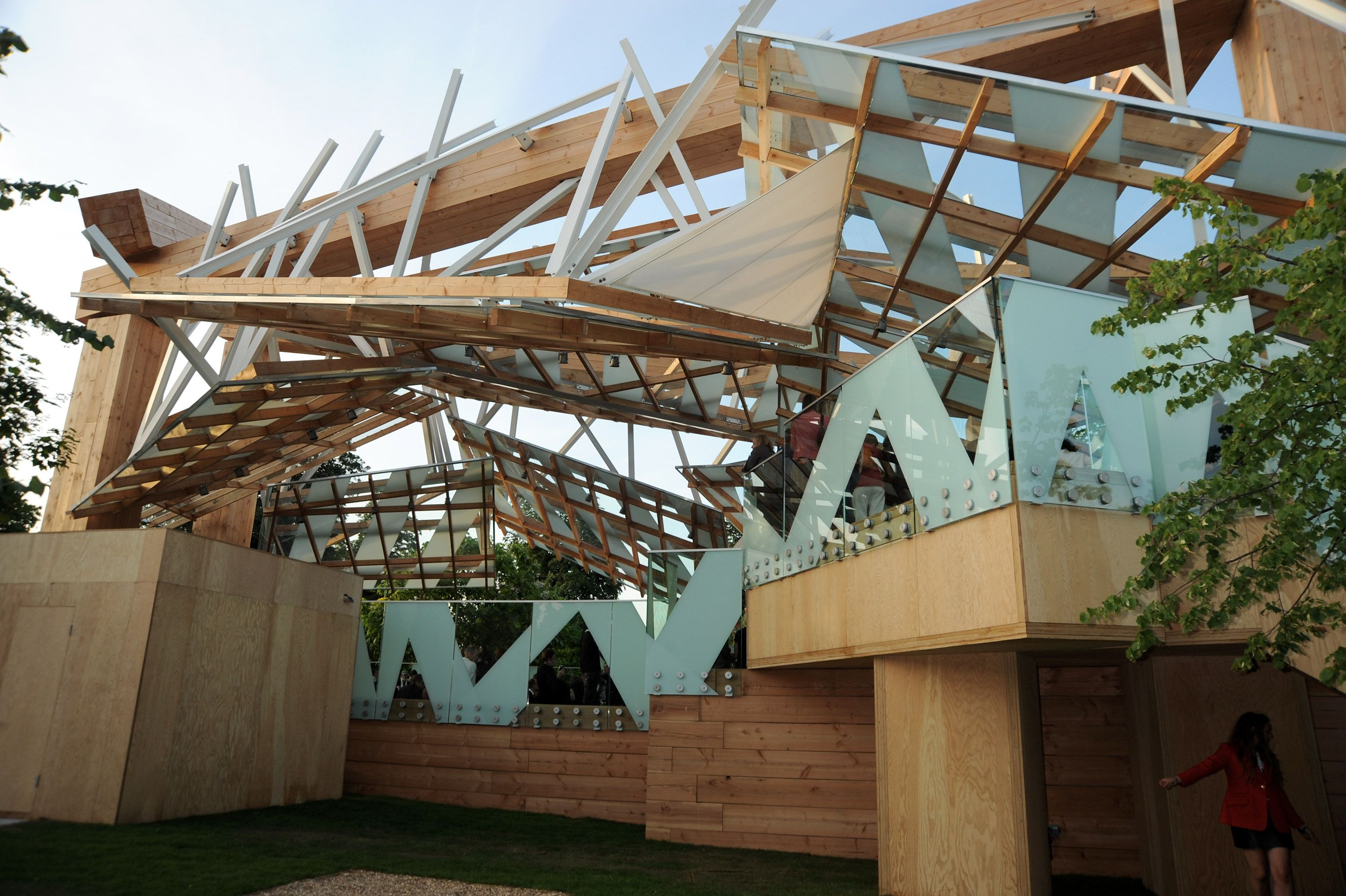 Serpentine Gallery Pavilion in London, 2008, by Frank Gehry