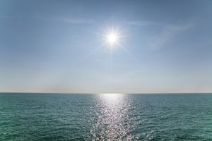 Panoramic view of the ocean