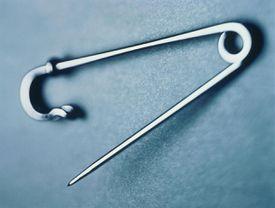 close-up of kilt pin