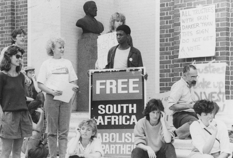 Students' Demonstration during Apartheid.
