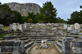 Ruins of the city hall of priene.