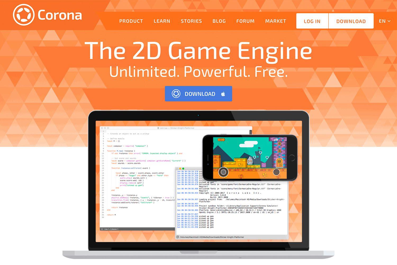 Corona SDK website